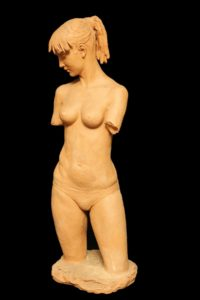 Aldo Falchi, 'Elisabetta', 1977, terracotta, cm16x13x50h