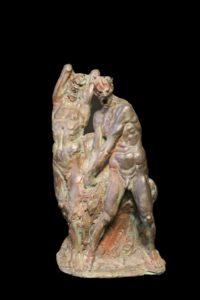 Aldo Falchi, 'Homo Sapiens 2000', 1982, Bronzo n.2-10, particolare, cm 47hx31x17
