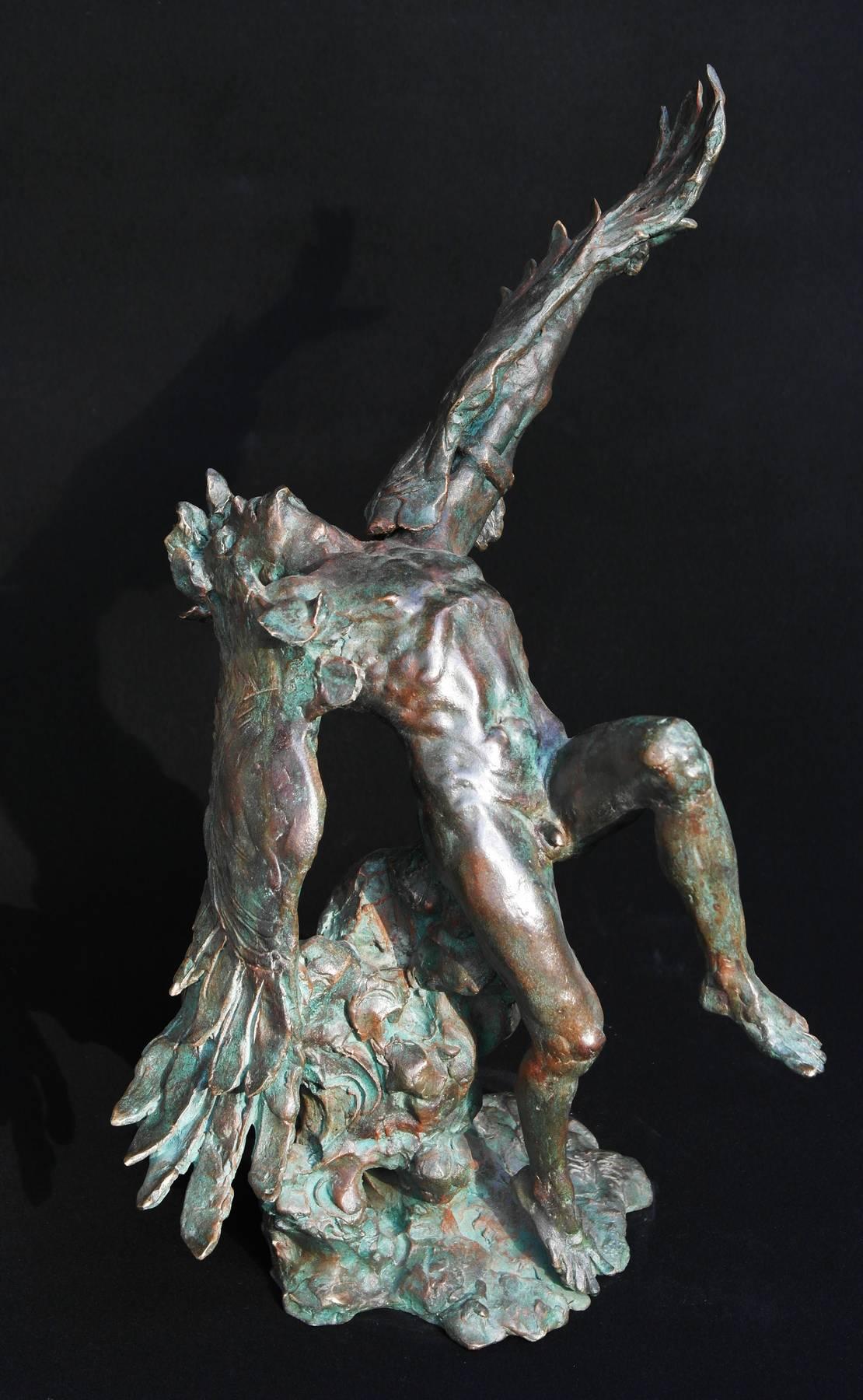 Aldo-Falchi-La-caduta-di-Icaro-1990-Bronzo