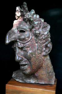 Aldo-Falchi-La-maschera-bronzo-1956