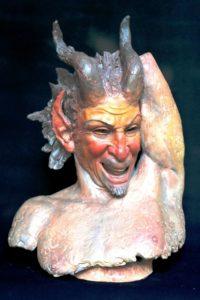 Fauno-1988-terracotta-dipinta
