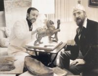 Aldo Falchi e Ernst Fuchs, Vienna, 1981