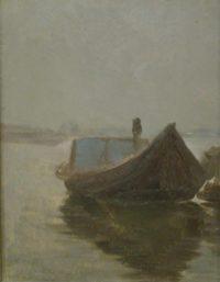 'Barcone sul Po nella nebbia'