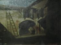 Luce Lunare, olio su masonite, 1935, cm 43x56