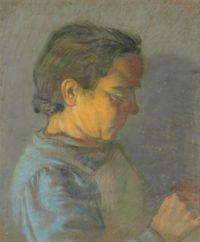 P.Falchi-Lavinia-1950-Gessetti-su-carta