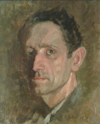 autoritratto, 1934, olio su cartone, cm 26,5x32,5