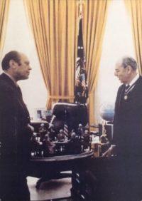 il Presidente Ford e 'La dichiarazione d'Indipendenza' di Aldo Falchi, Washington, 1974